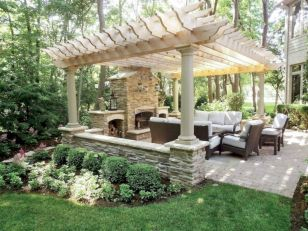 Comfy green country backyard remodel ideas 41