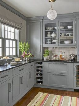 Cozy color kitchen cabinet decor ideas 07
