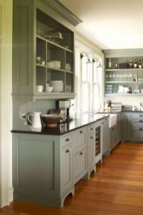 Cozy color kitchen cabinet decor ideas 26