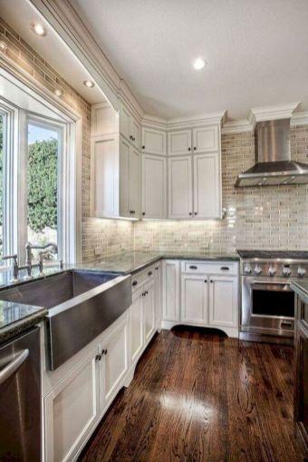 Cozy color kitchen cabinet decor ideas 30