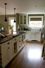 Cozy color kitchen cabinet decor ideas 34
