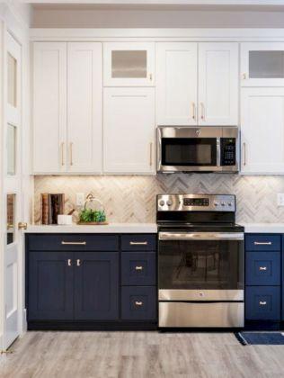 Cozy color kitchen cabinet decor ideas 45
