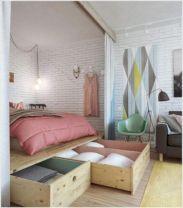 Cute diy bedroom storage design ideas for small spaces 23