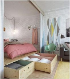 Cute diy bedroom storage design ideas for small spaces 23