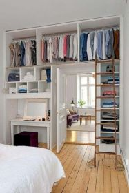 Cute diy bedroom storage design ideas for small spaces 25