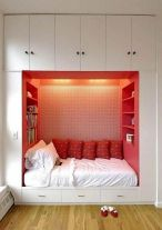 Cute diy bedroom storage design ideas for small spaces 26