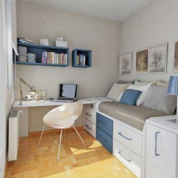 Cute diy bedroom storage design ideas for small spaces 29