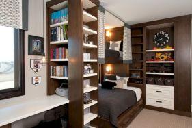 Cute diy bedroom storage design ideas for small spaces 31
