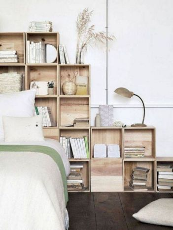 Cute diy bedroom storage design ideas for small spaces 33