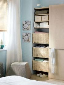 Cute diy bedroom storage design ideas for small spaces 34