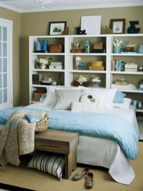 Cute diy bedroom storage design ideas for small spaces 39