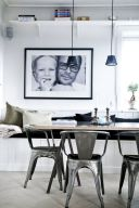 Elegant industrial metal chair designs for dining room 02