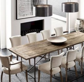 Elegant industrial metal chair designs for dining room 03