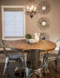 Elegant industrial metal chair designs for dining room 20