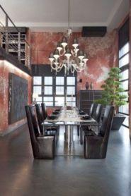 Elegant industrial metal chair designs for dining room 22