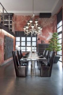 Elegant industrial metal chair designs for dining room 22