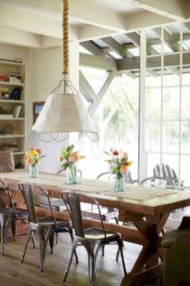 Elegant industrial metal chair designs for dining room 24