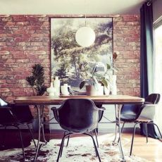 Elegant industrial metal chair designs for dining room 31