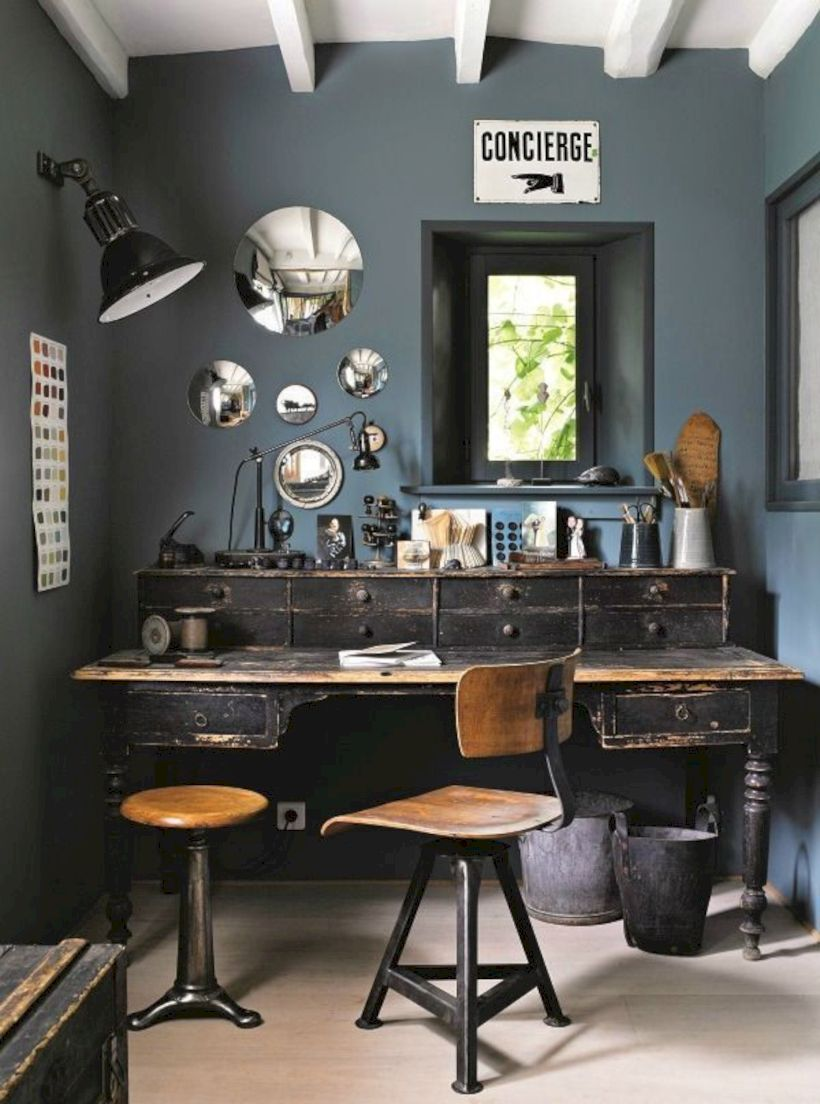 Elegant industrial metal chair designs for dining room 34