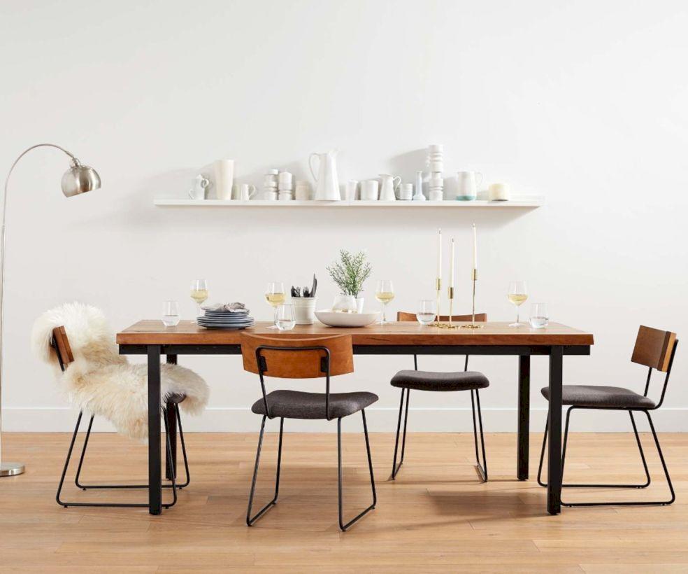 Elegant industrial metal chair designs for dining room 36