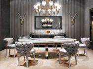 Elegant industrial metal chair designs for dining room 45