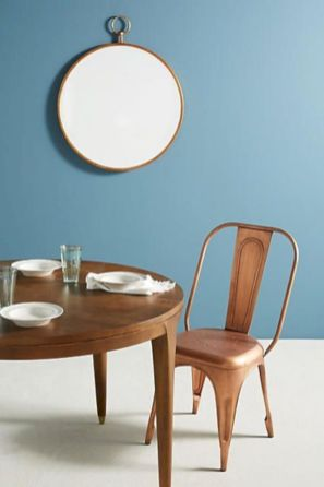 Elegant industrial metal chair designs for dining room 53