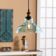 Fascinating colorful glass pendant lamps ideas for your kitchen 03