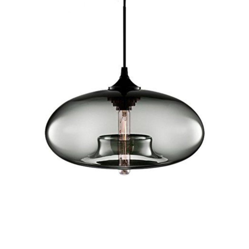 Fascinating colorful glass pendant lamps ideas for your kitchen 08