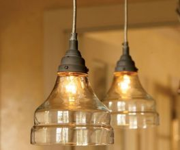 Fascinating colorful glass pendant lamps ideas for your kitchen 11