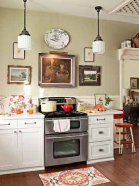 Fascinating colorful glass pendant lamps ideas for your kitchen 29