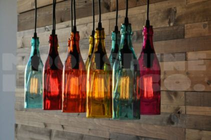 Fascinating colorful glass pendant lamps ideas for your kitchen 39
