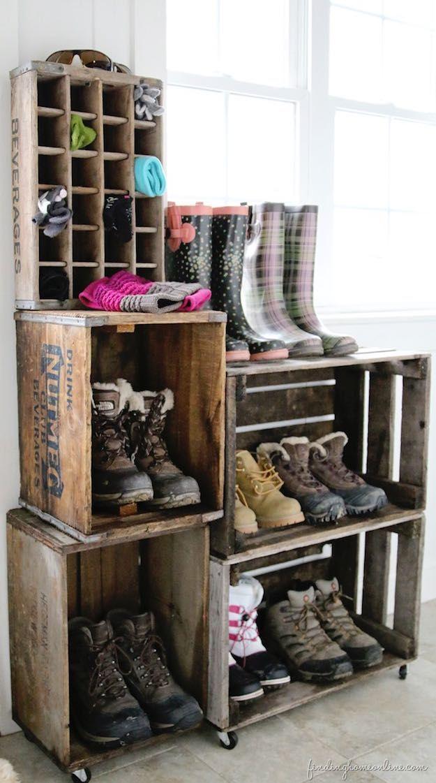 Luxury antique shoes rack design ideas 18