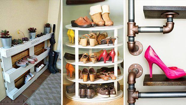 Luxury antique shoes rack design ideas 36