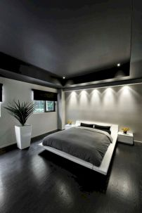 Modern tiny bedroom with black and white designs ideas for small spaces 01