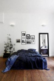 Modern tiny bedroom with black and white designs ideas for small spaces 34