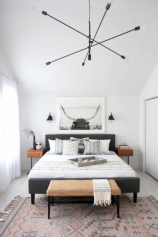 48 Modern Tiny Bedroom With Black And White Designs Ideas For Small ...