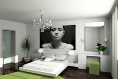 Modern tiny bedroom with black and white designs ideas for small spaces 45