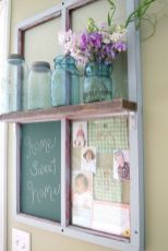 Newest diy vintage window ideas for home interior makeover 11