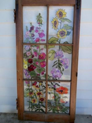 Newest diy vintage window ideas for home interior makeover 33