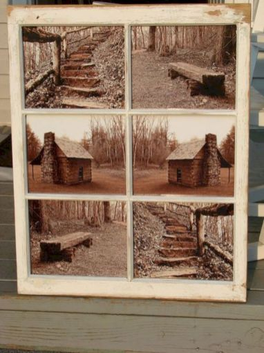 Newest diy vintage window ideas for home interior makeover 47