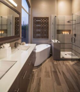 Perfect master bathroom design ideas for small spaces 39
