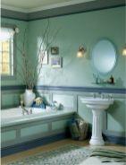 Shabby chic blue shower tile design ideas for your bathroom 08