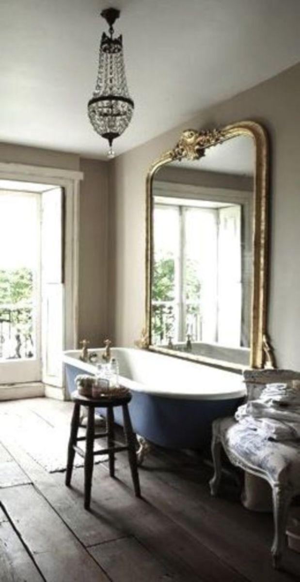 Shabby chic blue shower tile design ideas for your bathroom 10