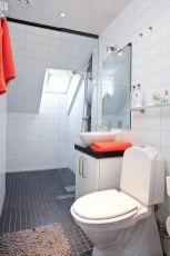 Shabby chic blue shower tile design ideas for your bathroom 18