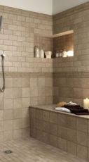 Shabby chic blue shower tile design ideas for your bathroom 20