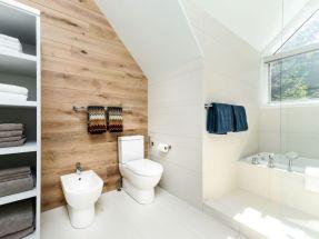 Shabby chic blue shower tile design ideas for your bathroom 31