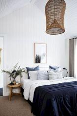 Unique white minimalist master bedroom design ideas 10