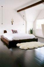 Unique white minimalist master bedroom design ideas 21