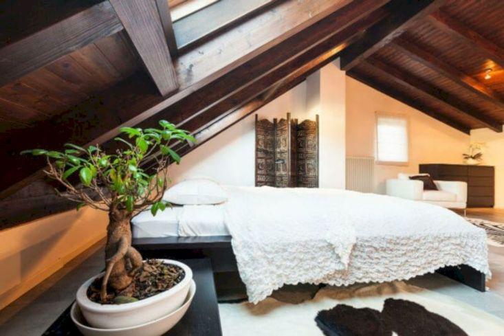 Unique white minimalist master bedroom design ideas 45