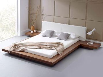 Unique white minimalist master bedroom design ideas 49